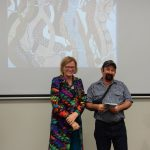 Julie Owens congratulates Geoff Sellman on Best Image Award ZW16
